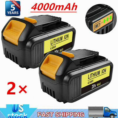 2X Replace For DeWalt 20V 20 Volt Max XR 4.0AH Lithium Ion Battery Pack DCB200