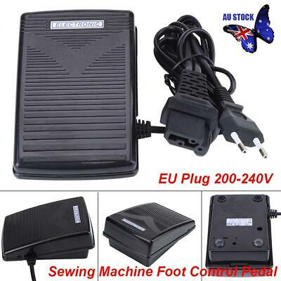 Home Sewing Machine Foot Control Pedal With Power Cord 200-240V EU Plug AU