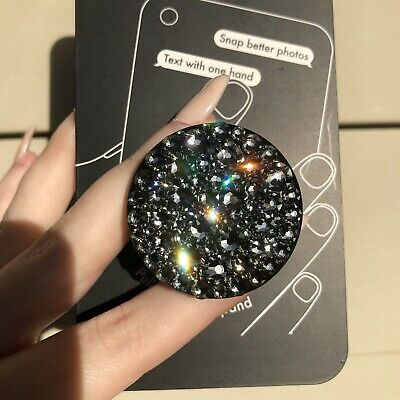 01ad8d7120a4c NEW BLING AUTHENTIC Black PopSockets Minne Mouse Swarovski Crystal ...