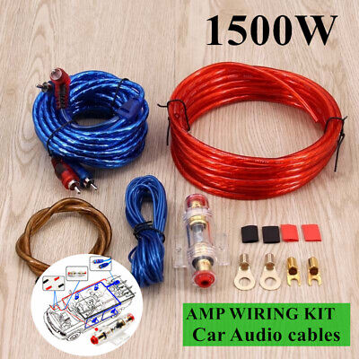 8awg gauge amp amplifier bass cable kit car audio auto automotive cable wire