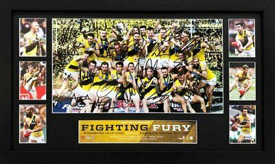 Richmond Tigers 2017 Premiers Team Signed Celebration  - Riewoldt Martin Cotchin