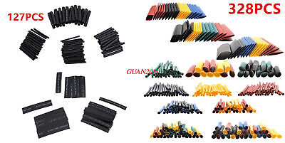 Heat Shrink Tubing Tube Sleeve Wrap Assortment Weatherproof Kit 127Pcs 328Pcs
