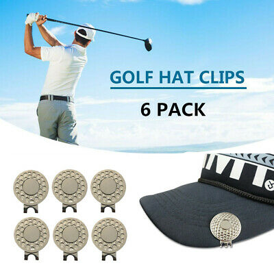 Golf Magnetic Hat & Visor Clip For Ball Markers Outdoor Alignment Tool 6 Pcs/Set
