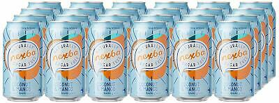 NEW Nexba Coconut and Mango Flavoured Sparkling Water 24x375ml Cans Drinks