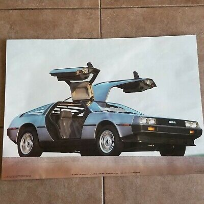 Vintage De Lorean DMC Model Poster 1983 Car Garage Delorean 20 x 27