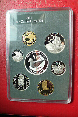 2004 New Zealand Proof Coin Set Chatham Islands Taiko.