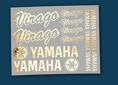 Sticker YAMAHA Virago - edle Optik Design messing poliert