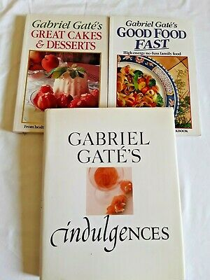 3 GABRIEL GATE COOK BOOKS  Bulk Lot