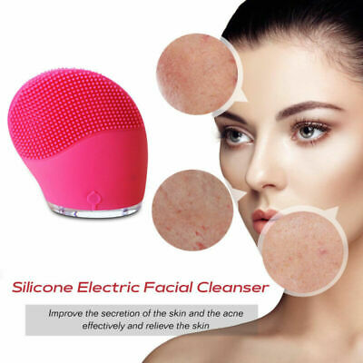 Silicone Face Cleanser Gentle Electric Facial Brush Skin Care Cleansing Massager