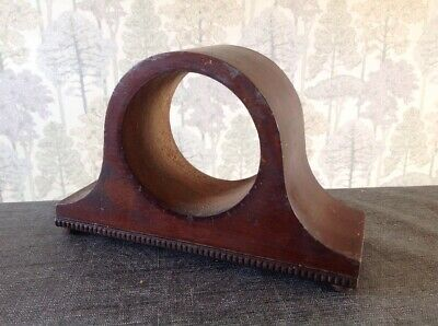 Antique Clock Case Nelson Hat Style Solid Wood  20x14x7cm Aperture 9cm