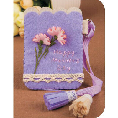 Non-woven Fabric Felt Applique Ornament Kit Felt Carnation Card Holder Bag
