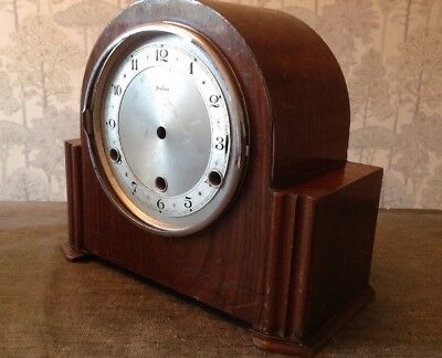 Antique Mantle Clock Case 27x23x12cm