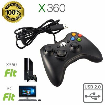 USB Wired Game Pad Controller for Microsoft Xbox 360 PC Windows
