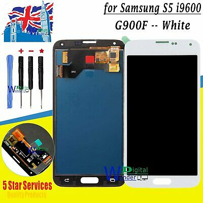 White Screen For Samsung Galaxy S5 i9600 SM-G900F LCD Display Touch Digitizer UK