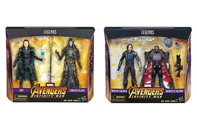 Marvel Legends Avengers Infinity War Loki Corvus Glaive & Winter Soldier Falcon