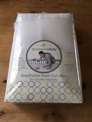 Breathable Baby Mesh Cot Liner 2 sided wrap (white colour)