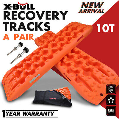 X-BULL Sand Tracks Recovery Tracks Traction Off Road Snow Tire Ladder 4WD Orange