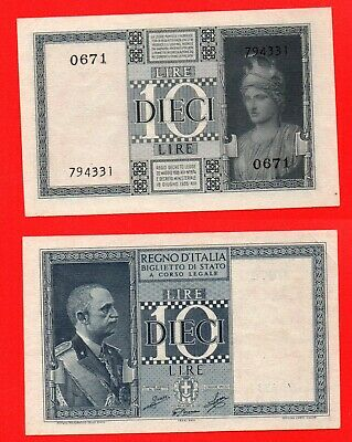 Italy 1935 10 lire banknote