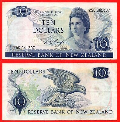 New Zealand 10 dollar banknote