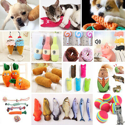 Lots Pet Puppy Funny Chew Play Squeaker Squeaky Soft Plush Sound Cat Dog Toys