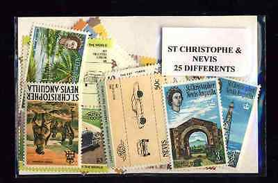 Saint Christophe et Niévès - St Kitts and Nevis 25 timbres différents