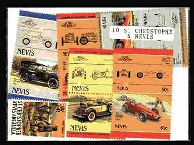 Saint Christophe et Niévès - St Kitts and Nevis 10 timbres différents