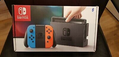 Complete **UNPATCHED** mod-able Nintendo Switch Red & Blue Console Boxed *Look*
