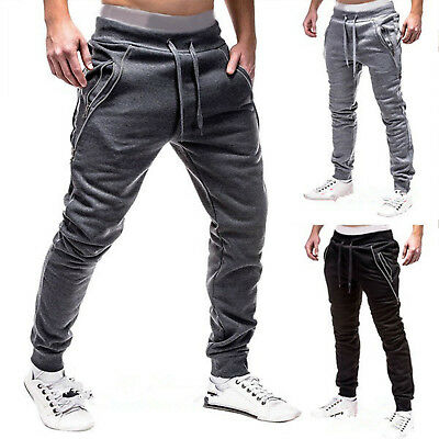 Mens Gym Jogging Training Trousers Tracksuit Bottoms Jogger Sweat Track Pants