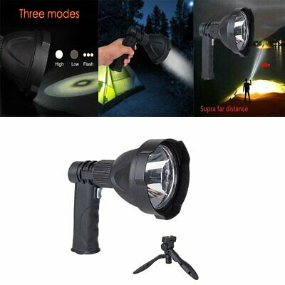 LED Spotlight Handheld Camping Rechargeable Torch Hunting Fishing Spot Light HU