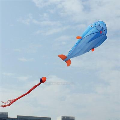 3D Huge Soft Parafoil Giant Dolphin Kite Outdoor Sport Dolphins Kites Xmas Gifts
