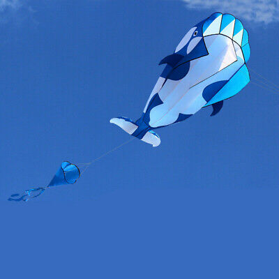 3D Blue Cartoon Whale Software Kite Single Line Outdoor Toy Gift Beach Toy