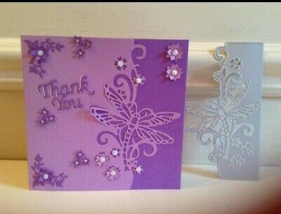 Border Dragonfly /Flower/Floral die/ Cut/Cutting/NEW/For Small Cards/EDGER