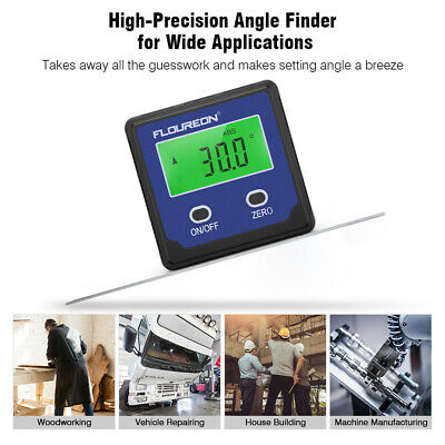 Portable Digital Angle Gauge Level Angle Finder Protractor W/ Base LCD Backlight