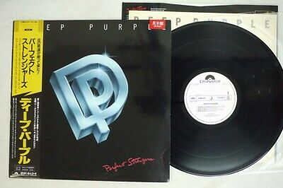 DEEP PURPLE PERFECT STRANGERS POLYDOR 25MM 0401 Japan OBI PROMO VINYL LP