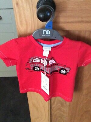 Baby Boys Monsoon red t-shirt age 3-6 months