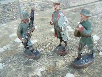 3 x World War 1 German Band Soldiers made by Elastolin
