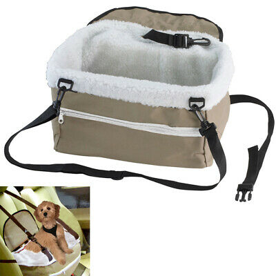 Pet Booster Seat Lookout Car Safety Dog Carrier Leash Belt Adjustable Travel !