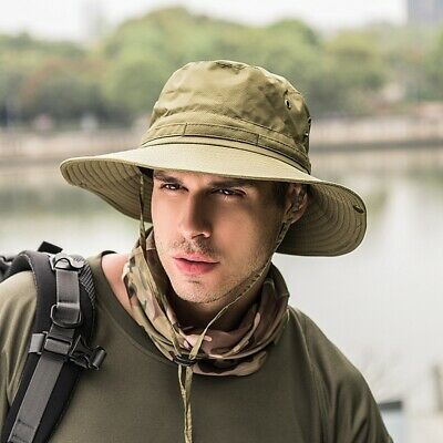 NEW Unisex Outdoor Sport Fishing Camping Hiking Hat Wide Brim Jungle Bush Cap