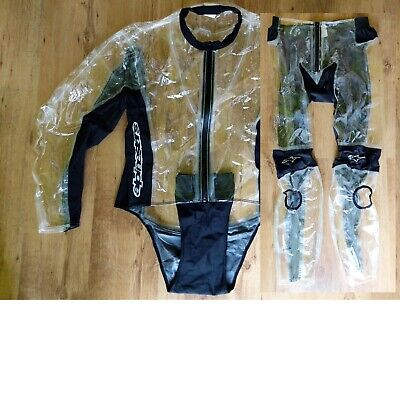New Alpinestars Racing Rain Suit - Over Leathers Jacket And Pants - Size Large