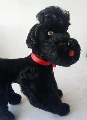 Steiff Dog Snobby Poodle Black mohair Jointed