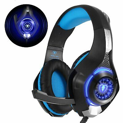 Casque Gaming PS4  Gamer Jeu Micro Premium Anti Bruit Audio Stéréo Basse LED
