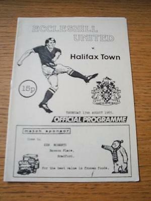 15/08/1985 Eccleshill United v Halifax Town [Friendly] . No obvious faults, unle