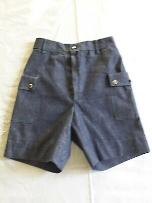 Short Bermuda jean brut enfant 9/10a VINTAGE 70 CHILD DENIM BERMUDA SHORTS 9/10Y