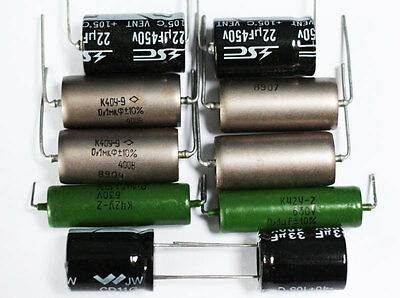 Quad II capacitor & resistor pack. NOS, with paper in oil capacitors.