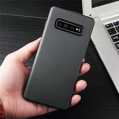 For Samsung Galaxy S10E S10+ Luxury Carbon Fiber Silicone Protection Case Cover
