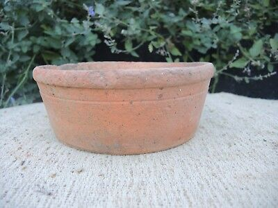 "Rare Old Hand Thrown Small Terracotta Seed Pan  7.75"" Diameter (1190)"