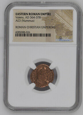 2nd-4th Century Bronze Roman Coin NGC - Roman Christian Emperors (Mixed Rulers)