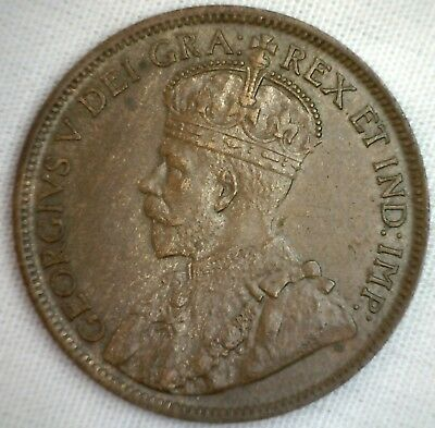 1917 Copper Canadian Large Cent Coin 1-Cent Canada BN #1