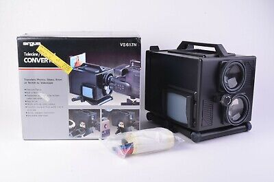 Mint- Boxed Argus Universal Video Converter Slides/Pics/Film/Movies To Video