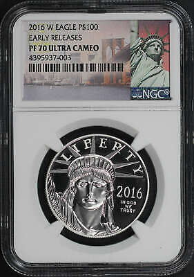 2016-W $100 Platinum Eagle Statue of Liberty Early Releases NGC PF-70 UC -178997